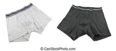 Men underwear - grey and black male underwear isolated on...