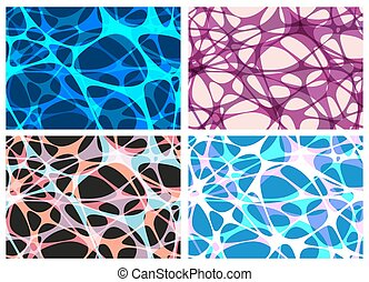Set of four seamless pattern.
