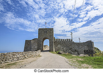 Remains on cape Kaliakra - Remains of the stone fortress on...