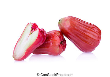 Rose apple isolated on white background.