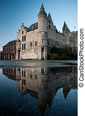 Het Steen and Reflection - The former royal residence on the...