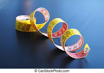 measuring tape showing diet or taylor concept
