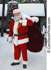 Full Santa Outside