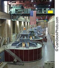 Hydro, eléctrico, turbinas