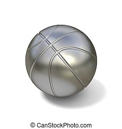 Silver basketball ball isolated 3D
