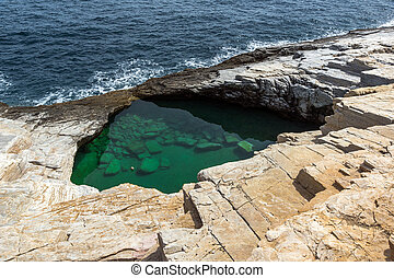 Giola Natural Pool, Thassos, Greece - Giola Natural Pool in...