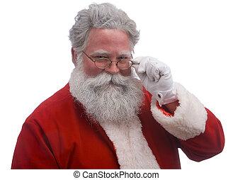 Santa on White