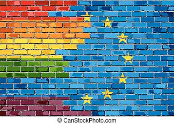 Flags Of Lgbt And The Europe - Flags Of Gay Pride And The...