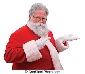 Santa Sells Your Product - Santa pointing as if displaying a...