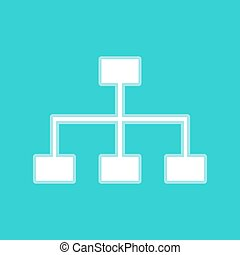 Site map sign. White icon with whitish background on...