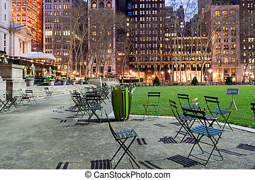 Buildings by Bryant park - Bryant Park is located in...