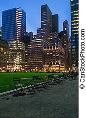 Lights by Bryant park - Bryant Park is located in Manhattan...