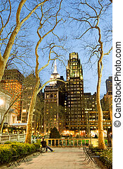 Night lights by Bryant park - Bryant Park is located in...