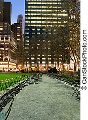Path by the lwan in Bryant Park - Bryant Park is located in...