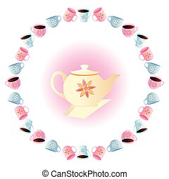 tea party vector - It is a vector illustration of a tea...