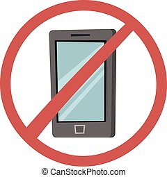 Turn off phone vector illustration. - No mobile phone...