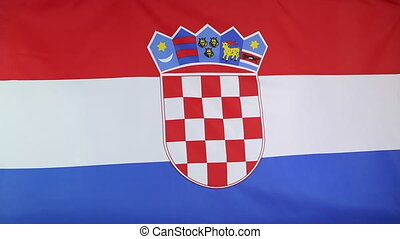Croatia flag in slow motion