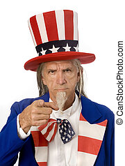 Uncle Sam Wants YOU - Uncle Sam pointing at the camera in...