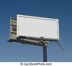 Outdoor Advertising - Blank freestanding billboard against a...