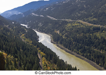 Mighty Fraser River - A view from Jackass Mountain pass...