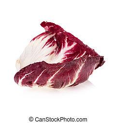 Radicchio, red salad isolated on white