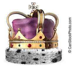 Crown - A King\'s crown isolated on white