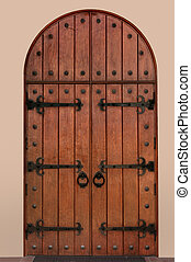 Medieval Door - Arched medieval door with clipping path