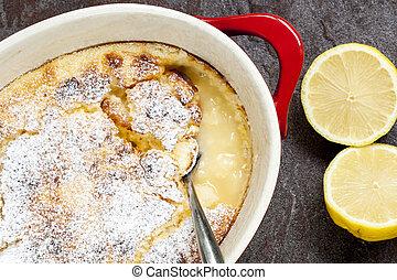Traditional English Lemon Pudding