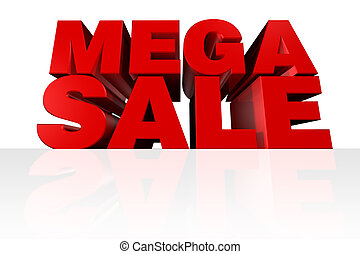 "Mega Sale Headline - ""MEGA SALE\"" 3D Headline rendered from..."