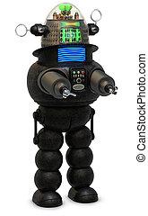 Retro Robot - 50\'s style robot on a white background