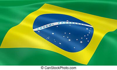Brasileiro, bandeira, vento