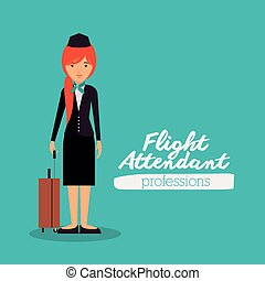 flight attendant design, vector illustration eps10 graphic