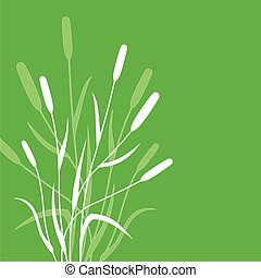 Green grass background - Vector illustrations of green...