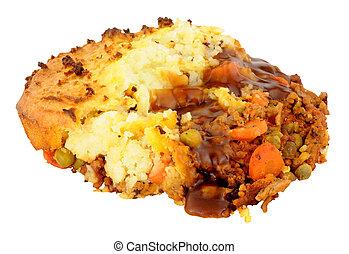 Potato Topped Cottage Pie - Portion of baked potato topped...
