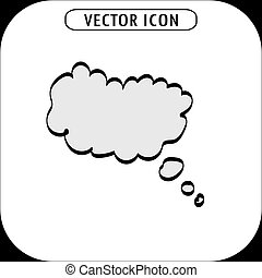 think bubble icon, vector illustration