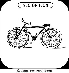 bicycle ,hand drawn icon