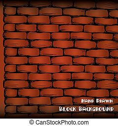 brick wall , hand drawing, vector