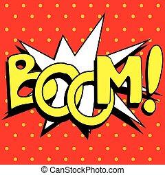 Cartoon Boom explosion,