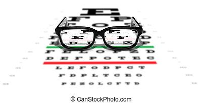 Prescription Glasses - Prescription glasses sitting on an...