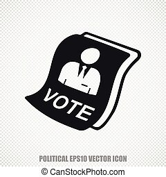 Politics vector Ballot icon Modern flat design - The...