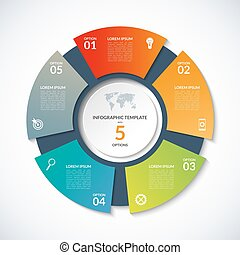 Vector circle template for infographics. Business concept...