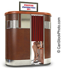 Retro Photo Booth - 1950s style photo booth vending machine...