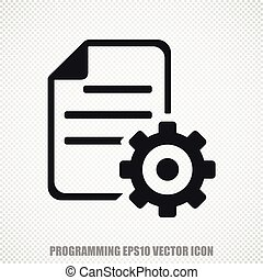 Database vector Gear icon Modern flat design - The universal...