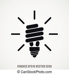 Business vector Energy Saving Lamp icon Modern flat design -...