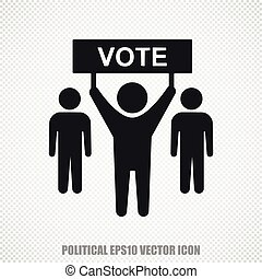 Politics vector Election Campaign icon Modern flat design -...