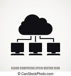 Cloud technology vector Cloud Network icon Modern flat...