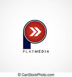 arrow media play icon theme logotype
