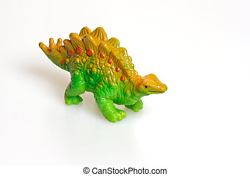 Cheap plastic dinosaur toy Studio photo