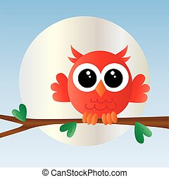a sweet little red owl