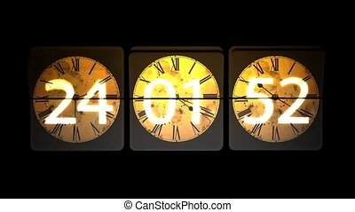 Chaotic moving clock. Infinitely fast moving clock